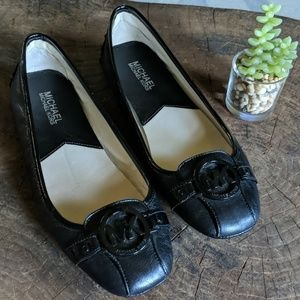 Michael Kors || Black Leather Loafers